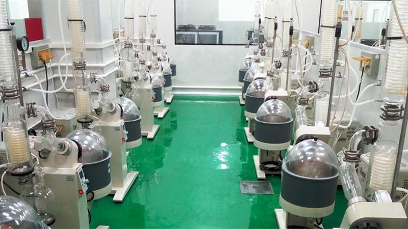 旋转蒸发仪等设备用于植物萃取